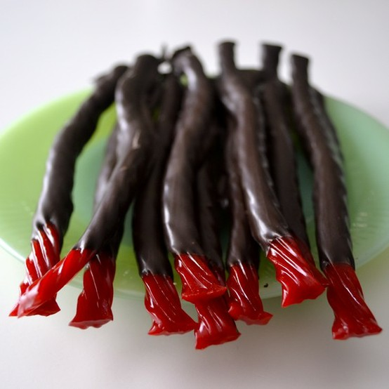 dark chocolate twizzler